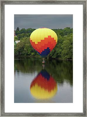 Balloon Reflections Framed Print