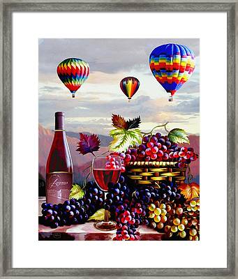 Balloon Ride At Dawn Framed Print by Ron Chambers