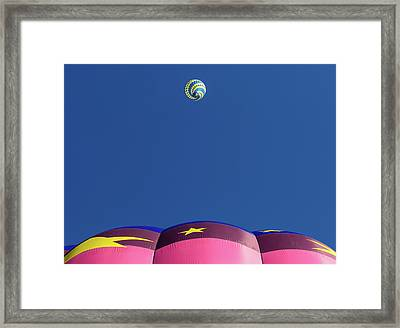 Balloon Rise Framed Print by Joseph Smith
