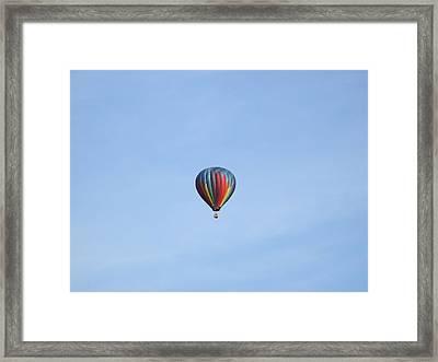 Ballooning Framed Print by Karen Moulder