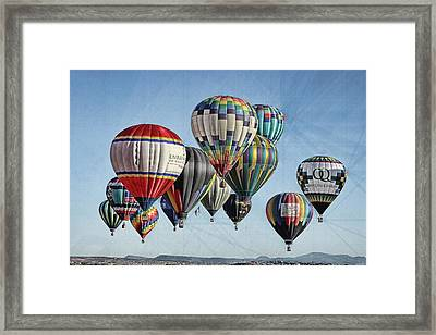 Framed Print featuring the photograph Ballooning by Marie Leslie