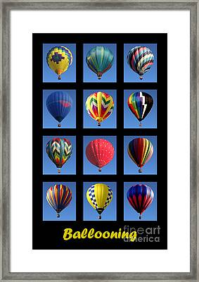 Ballooning Framed Print by Olivier Le Queinec