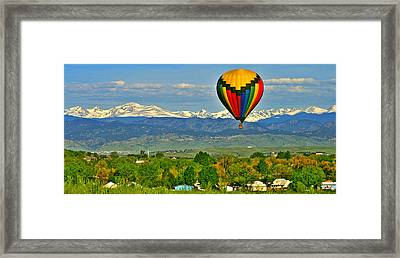 Ballooning Over The Rockies Framed Print