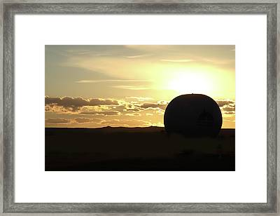 Framed Print featuring the photograph Balloonrise by Marie Leslie