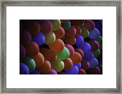 Balloons At The Fair Framed Print