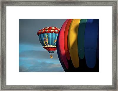 Balloons In Flights Framed Print
