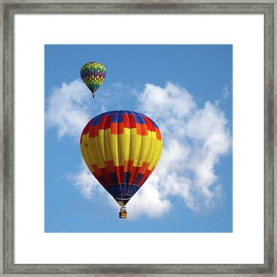 Balloons In The Cloud Framed Print by Marie Leslie
