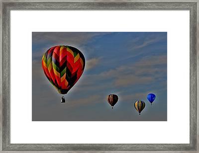 Balloons In The Sky Framed Print
