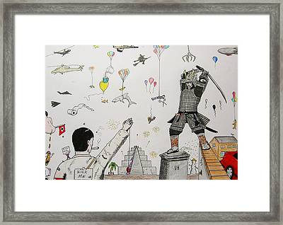 Balloons Framed Print by James Bradley