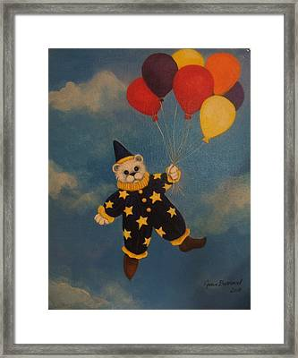 Balloons Framed Print by Joan Barnard