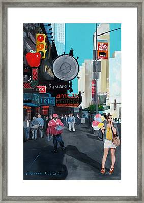 Balloons On 42nd Street Framed Print by George Lucas