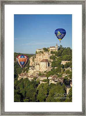 Balloons Over Rocamadour Framed Print by Brian Jannsen