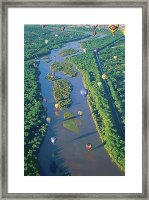Balloons Over The Rio Grande Framed Print