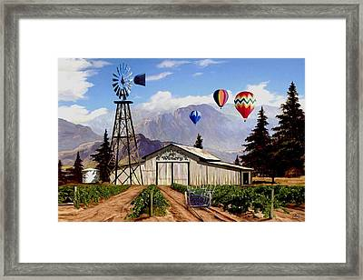 Balloons Over The Winery 1 Framed Print by Ron Chambers