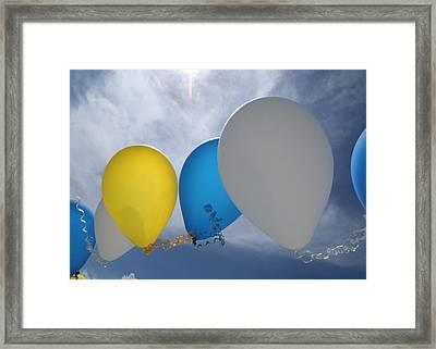 Balloons Framed Print by Patrick M Lynch