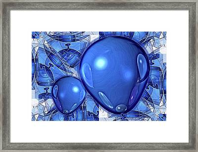 Framed Print featuring the digital art Balloons by Ron Bissett