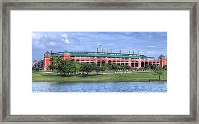 Ballpark In Arlington Now Globe Life Park Framed Print