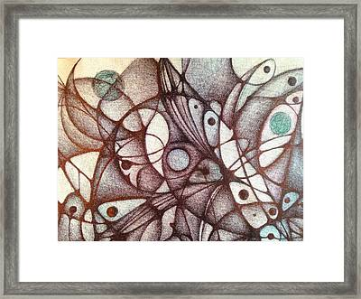Ballpoint On Canvas  Framed Print by Jack Dillhunt