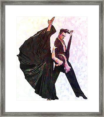 Ballroom Dance Framed Print by Elena Kosvincheva