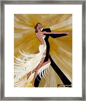 Ballroom Dance Framed Print by Helen Gerro