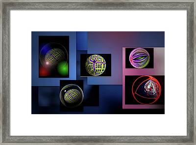 Framed Print featuring the photograph Balls Afloat by Irma BACKELANT GALLERIES