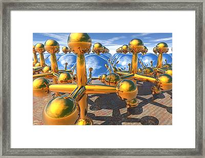 Balls And Jacks II Framed Print
