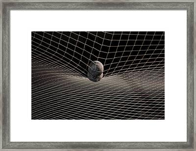 Framed Print featuring the photograph Balls In A Net by Paul SEQUENCE Ferguson             sequence dot net