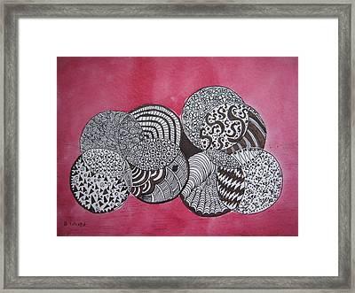 Balls Of Yarn Framed Print by Bonnie Wright