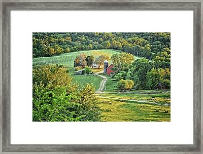 Balltown Valley Farm Framed Print