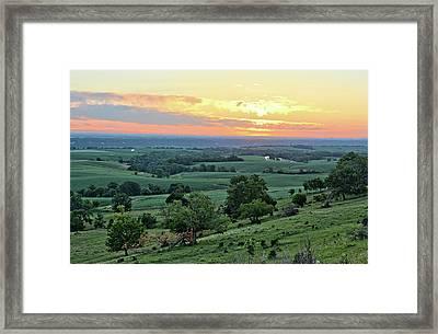 Balltown Valley Sunrise 2 Framed Print