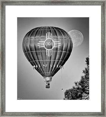 Framed Print featuring the photograph Ballunar Eclipse by Kevin Munro