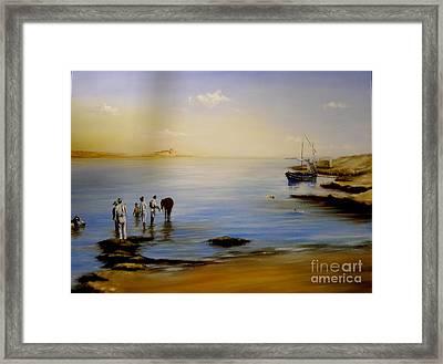 Balluta Bay Malta 1935 Framed Print