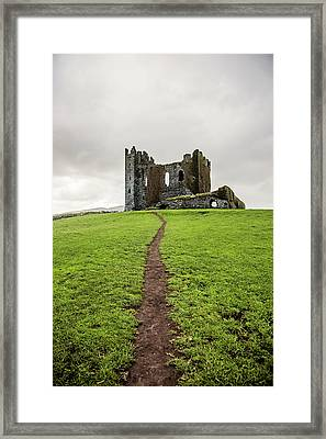 Path To The Ballycarbery Castle Ruins Framed Print