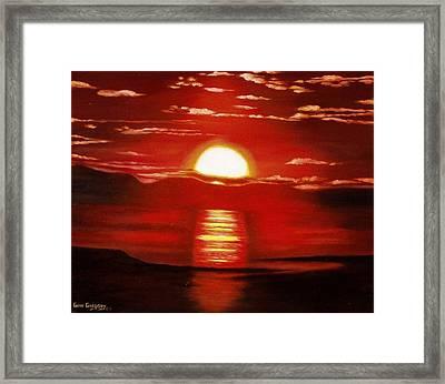 Ballycastle Sunset Framed Print