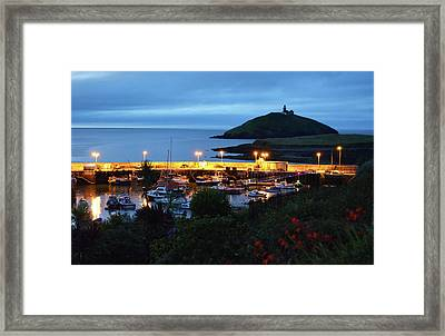 Ballycotton Ireland Marina Harbour And Lighthouse East County Cork Framed Print