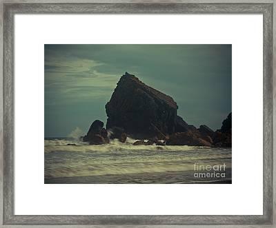 Ballydwane Cove Framed Print