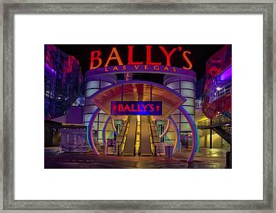 Ballys Hotel Las Vegas Framed Print