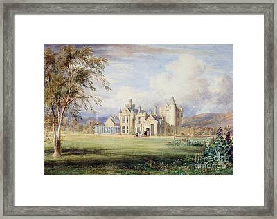 Balmoral Castle Framed Print by James Giles