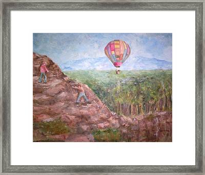 Baloon Framed Print by Joseph Sandora Jr