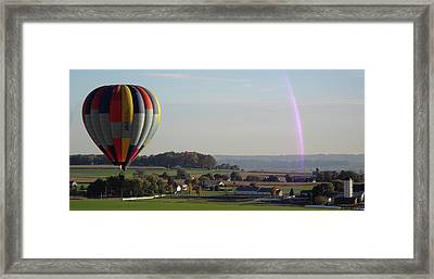 Framed Print featuring the photograph Baloon Ride by Vilas Malankar