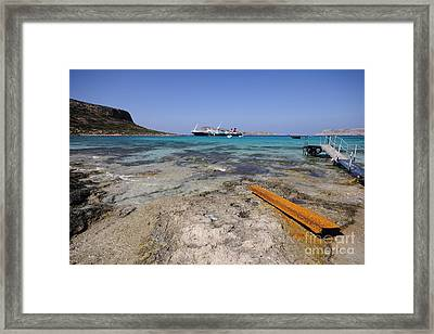 Balos Beach Framed Print