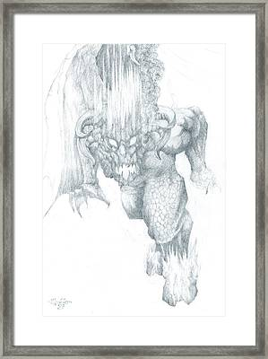 Balrog Sketch Framed Print