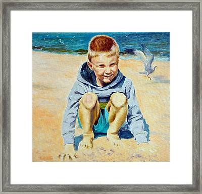 Baltic Beach Framed Print by Henryk Gorecki