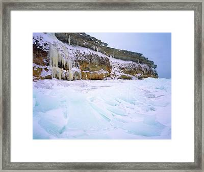 Baltic Klint Framed Print by Romeo Koitmae