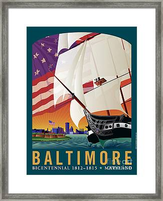 Baltimore - By The Dawns Early Light Framed Print