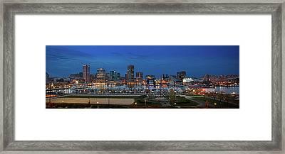 Baltimore At Sunset Framed Print