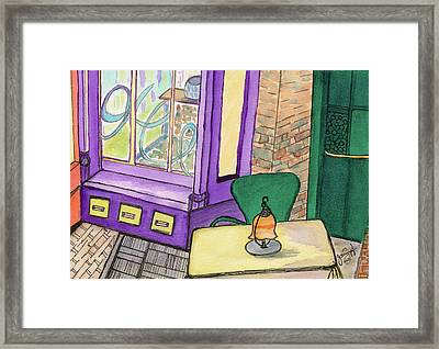 Framed Print featuring the painting Baltimore Cafe by Joan Zepf