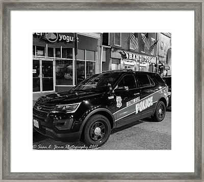 Baltimore City's Finest Framed Print by Sean Jones