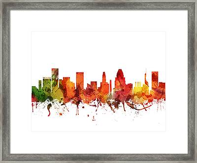 Baltimore Cityscape 04 Framed Print by Aged Pixel