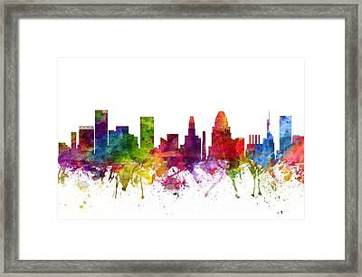 Baltimore Cityscape 06 Framed Print by Aged Pixel